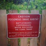 Poisonous Snake Caution Sign Stock Photos