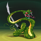 Poisonous snake with saber. Royalty Free Stock Photos