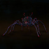 Poisonous spider. Dangerous and poisonous spider. Illustration Stock Photo