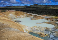 Sulfur pool at Leirhnjukur, Krafla Iceland Stock Photos