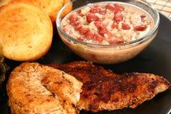 Poisson-chat et poulet de Cajun Images stock