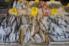 Poisson frais à un marché dans Chinatown Photos stock