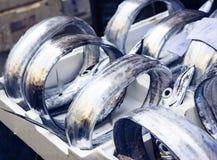 Poisson frais à vendre sur la poissonnerie de Catane, Sicile, Italie image libre de droits