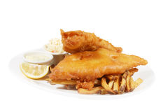 Poisson-frites Images stock