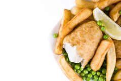 Poisson-frites Image stock