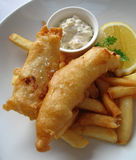 Poisson-frites Photo libre de droits