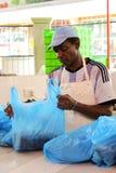 Poissonnerie dans Victoria, Seychelles Images libres de droits