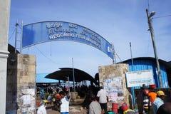 Poissonnerie de Negombo Images stock