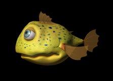 poissons 3D comiques Photos libres de droits