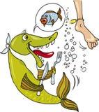 poissons affamés illustration libre de droits