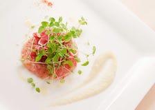 Poissons avec de la salade Photo stock