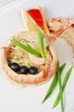 Poissons avec du riz et des légumes Images stock