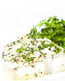 Poissons blancs avec de la salade Image stock