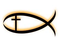 Poissons chrétiens Photo libre de droits