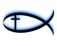 Poissons chrétiens Image libre de droits