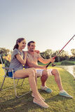 Poissons contagieux de couples Image stock