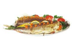 poissons cuits au four Photo stock