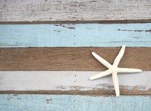 Poissons d'étoile sur le fond en bois Photographie stock libre de droits