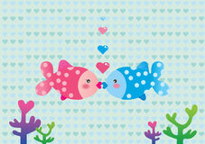 Poissons d'amour Illustration Stock