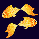Poissons d'or souriants Images stock