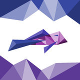 Poissons dans le style de triangle Abrégé sur polygone illustration stock