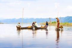 Poissons de crochet de pêcheurs Photo libre de droits
