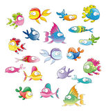 poissons de famille Photo stock