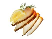 Poissons de flétan avec le citron Photo stock