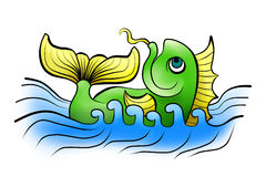 Poissons de la Chine en mer Image stock