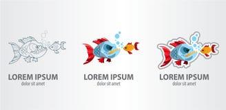 Poissons de logo Photo stock