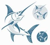 Poissons de marlin illustration libre de droits