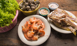 Poissons de mollusques et crustacés de crevette Photos stock
