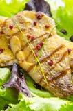 Poissons de rôti et sauce balsamique photos libres de droits