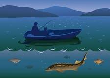 Poissons de rivière de pêche Photographie stock libre de droits