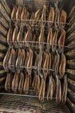 Poissons de tabagisme - harengs fumés Photos stock