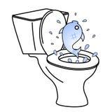 Poissons de toilette Image libre de droits