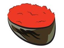 Poissons de vol Roe Sushi Image stock