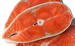 Poissons des saumons Bifteck de poisson cru Image libre de droits