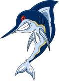 Poissons drôles de marlin Image libre de droits