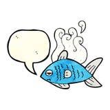 poissons drôles de bande dessinée avec la bulle de la parole Images libres de droits