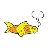 poissons drôles de bande dessinée avec la bulle de la parole Photo libre de droits