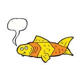 poissons drôles de bande dessinée avec la bulle de la parole Photo stock
