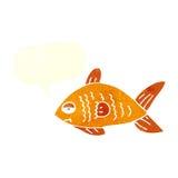poissons drôles de bande dessinée avec la bulle de la parole Photographie stock