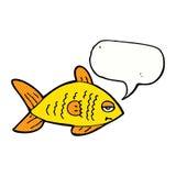 poissons drôles de bande dessinée avec la bulle de la parole Photos libres de droits