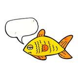 poissons drôles de bande dessinée avec la bulle de la parole Photos stock