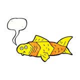 poissons drôles de bande dessinée avec la bulle de la parole Image stock