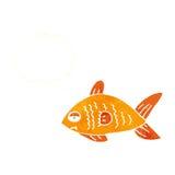 poissons drôles de bande dessinée avec la bulle de pensée Photographie stock