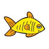 poissons drôles de bande dessinée comique Photos libres de droits