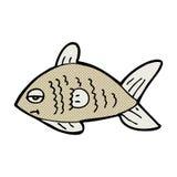 poissons drôles de bande dessinée comique Photos stock