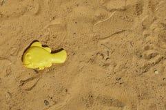 Poissons du moule des enfants dans le bac à sable image stock